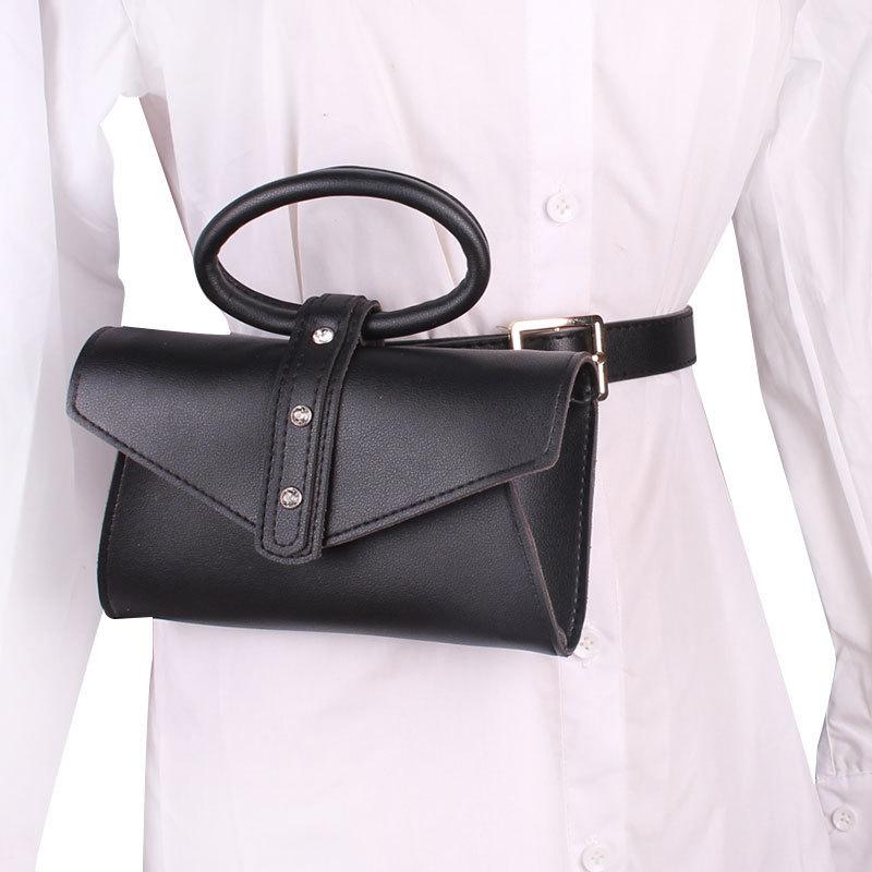 2020 Spring Fashion Bags Women Solid Stylish Chain Waist Bag Vintage Casual Belt Bag Female Tide All-match Messenger Bag ZK479