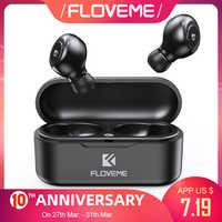 FLOVEME TWS 5,0, беспроводная гарнитура, Bluetooth наушники, наушники для смартфона, наушники, стерео звук, наушники, двойной микрофон