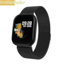 Reloj inteligente GS12 con pantalla táctil completa PK LAND 1 p80 resistente al agua Bluetooth Sport fitness tracker hombres reloj inteligente para teléfono IOS Android