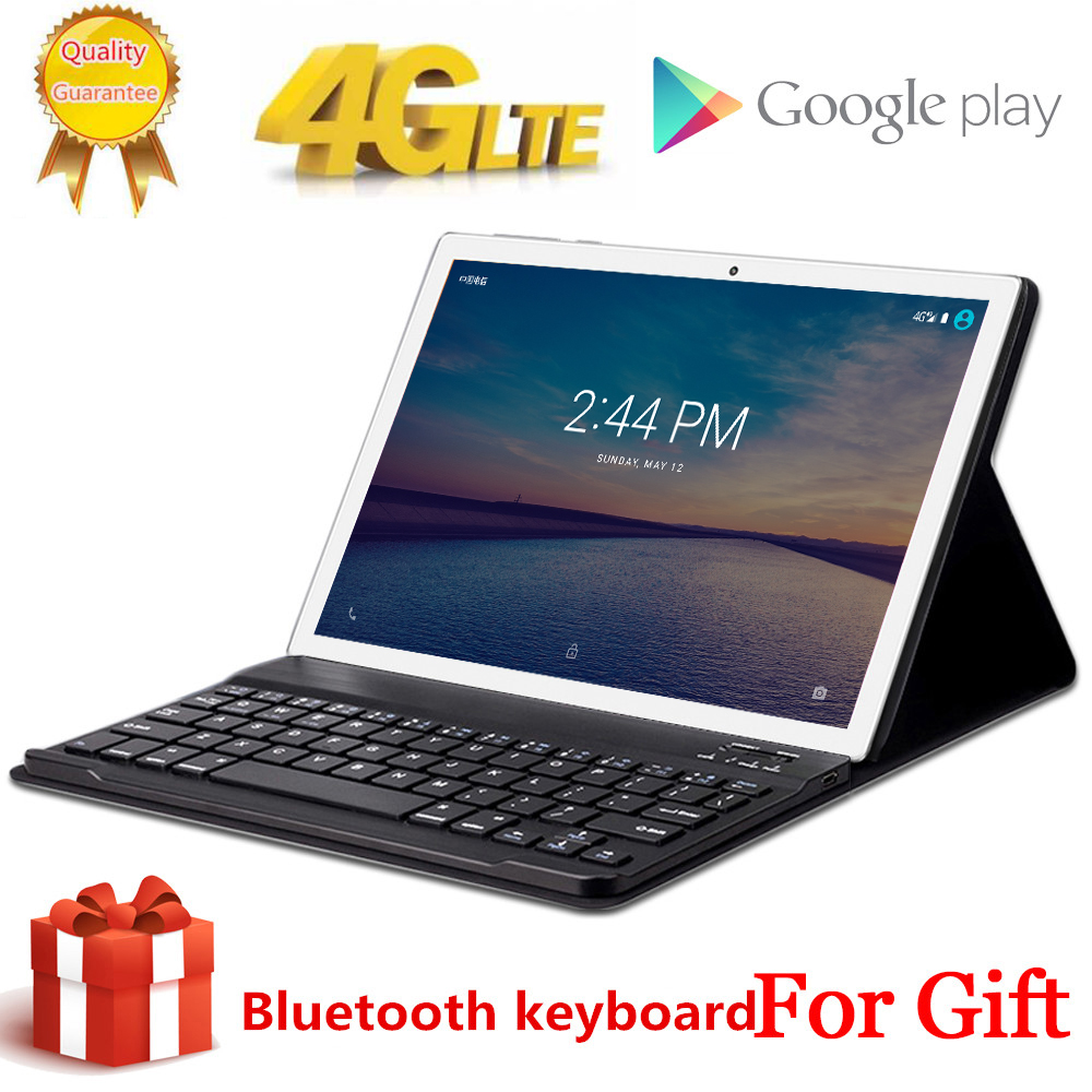 Free Gift BlueTooth Keyboard Tabletr 4G LTE 10.1 Inch 2.5D Tablet Pc 10 Deca Core MT6797 8GB RAM 128GB ROM Android 9.0 1920*1200