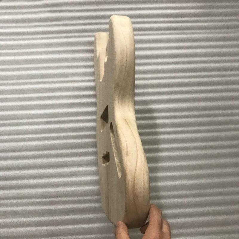 Image 2 - 未完エレキギター本体木材空白ギターバレル jb スタイルエレキギター diy パーツエレキギター   -