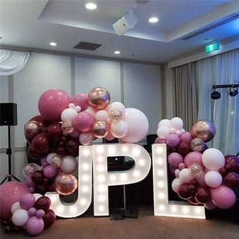 "350pcs Macaron Pastel Latex Balloon Garland Kit Retro Dusty Pink Double Layer 5""-18"" Balloons Wedding Birthday Party Decorations 1"