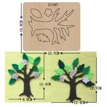جديد شجرة خشبية يموت سكرابوكينغ C 1167 قطع يموت أحجام متعددة