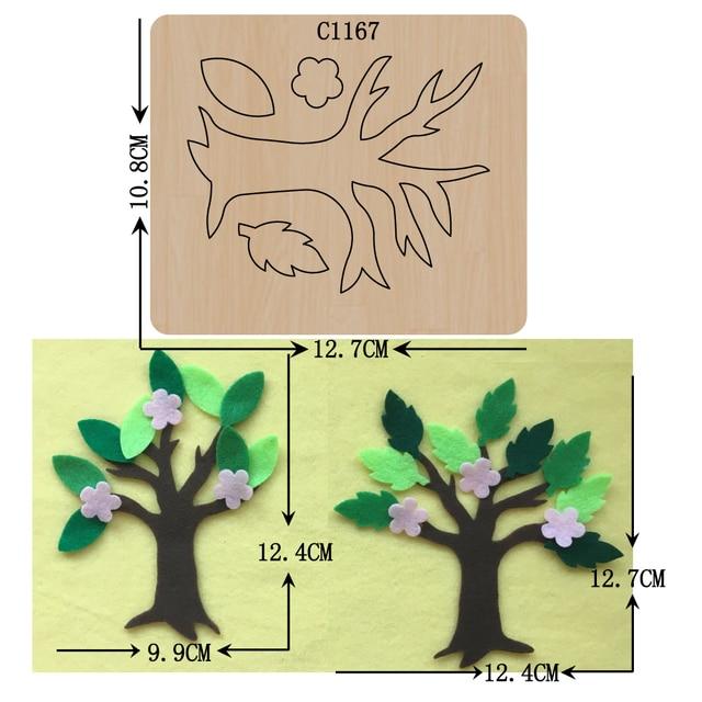 New  tree Wooden die Scrapbooking C 1167  Cutting Dies Multiple sizes