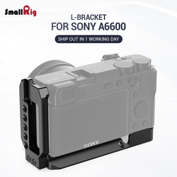 SmallRig a6600 l-plate DSLR Camera A6600 L Plate L Bracket for Sony A6600 W/ Arca Type Plate for Vlog Vlogging Rig 2503