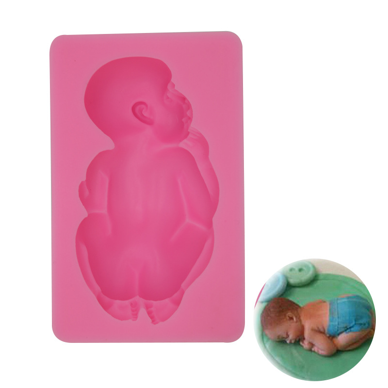 1PC DIY Handmade Soap Mold Cake Fondant Baking Tools Large Kids Baby Cake Mold Handmade Soap Mold  Silicone Mold B025