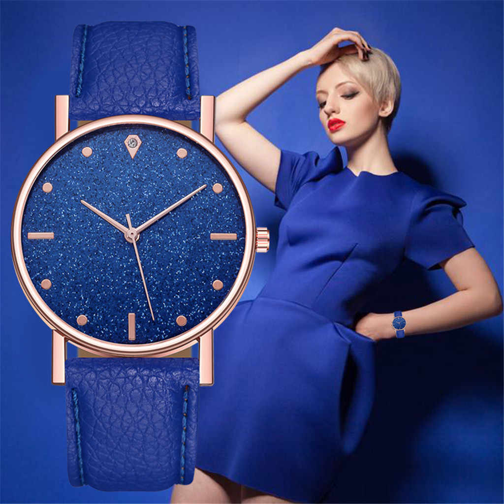 montres femmes Luxury Starry Sky Watch Quartz Stardust Women Watch Stainless Steel Dial Casual watch woman bracele watches 03*