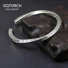 Винтажные настоящие солидные браслеты из стерлингового серебра 925 пробы с манжетами в виде рыбы для женщин и мужчин, браслет витой формы, мужские Модные ювелирные изделия