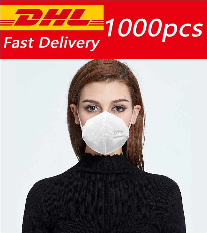 DHL Shipping 200/300/500/1000/2000/5000/10000pcs Disposable Face Mask KN95 Face Mask 95% Filtration Protective Masks Pollution