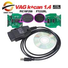 Vag k + can commander 1.4 com ftdi ft232rl pic18f258 obdii vag scanner para vw/para audi/para skoda/para seat diagnóstico cabo