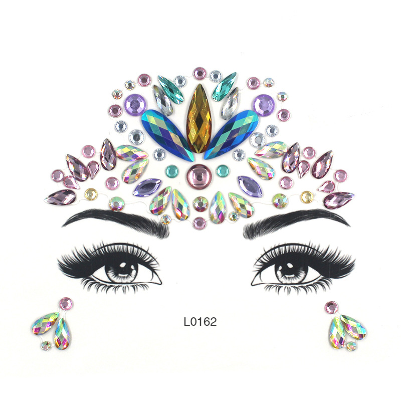 Eye Glitter Rhinestone Temporary Tattoo Stickers Body Face Jewel Party Makeup Tatoo Face Crystal Stickers For Woman Girls Stick. (1)
