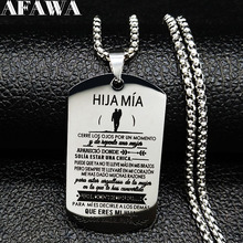 2019 Fashion HJA MIA Stainless Steel Necklaces Pendants for Women Jewelry collar acero inoxidable mujer N19366
