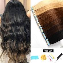 """Veravicky волосы человеческие волосы для наращивания на ленте 1"""" 18"""" 2"""" двусторонняя изолента прямые реми волосы на невидимом расширении PU Weft"""