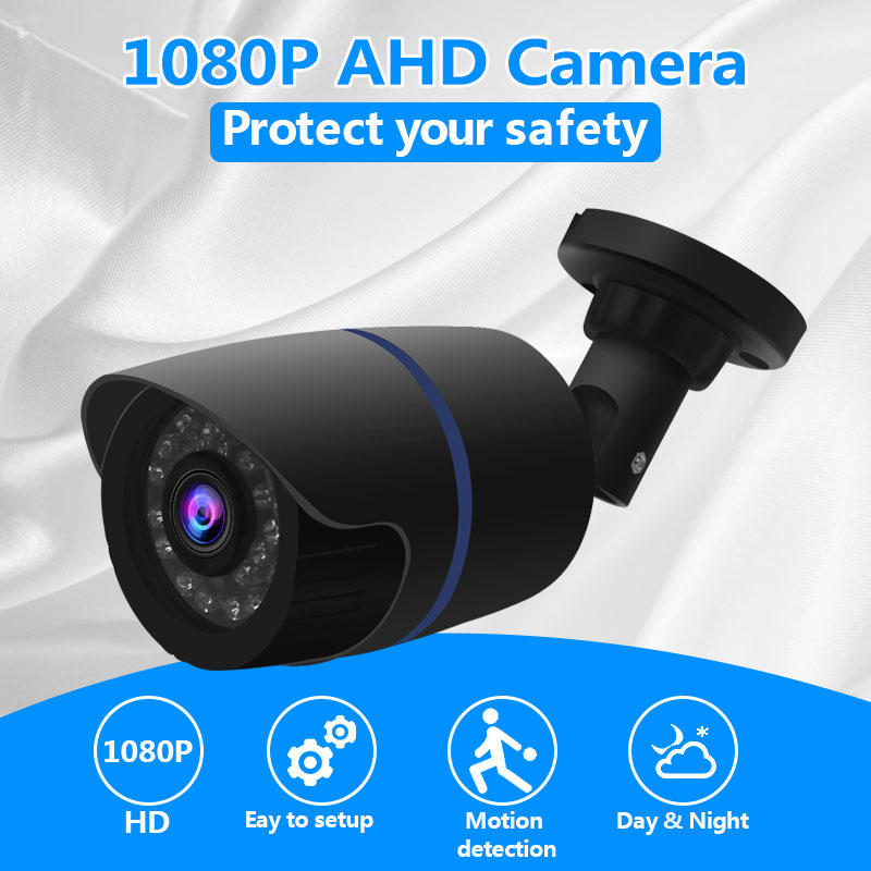 HD Camera 1080P AHD Analog 2.0MP Outdoor Waterproof IR Night Vision Home Security CCTV Camera For AHD DVR System Kit ABS