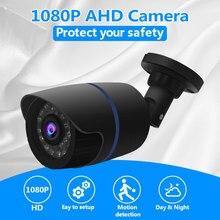 Hd câmera 1080 p ahd analógico 2.0mp visão noturna ir à prova dwaterproof água ao ar livre de segurança em casa cctv câmera para ahd dvr sistema abs
