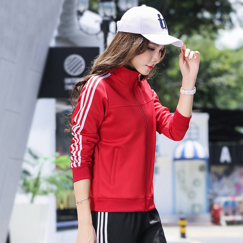 Autumn New Style Long Sleeve Two-Piece Set COUPLE'S Fashion Casual Sports Clothing Men's Outdoor Sports Fitness Suit
