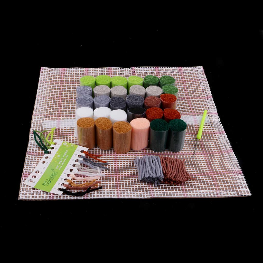 Tier Serie Latch Haken Teppich Kits Pferd 3D Segment Stickerei Kissen Wolle Kreuz Stich Teppich Stickerei DIY Latch Haken Kissen