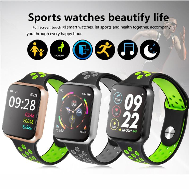Full screen touch F9 smart watch frauen männer Wasserdicht Herz rate blutdruck <font><b>Smartwatch</b></font> für <font><b>IOS</b></font> Android telefon pk S226 P68 image