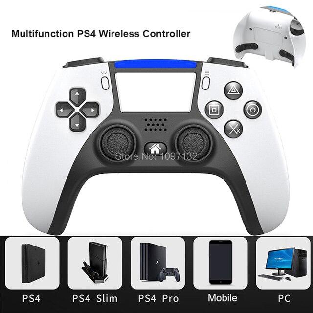 PS4 سماعة لاسلكية تعمل بالبلوتوث تحكم لسوني PS4 بلاي ستيشن 4 وحدة التحكم dualshock 4 عصا التحكم Gamepads عن بعد