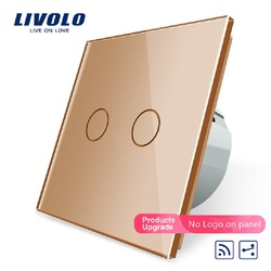 Livolo Touch Remote Switch, 2 Gangs 2 Way, AC 220~250V + LED Indicator, VL-C702SR-15,Mini Remote Not Included,VL-C702SR-13