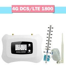 Walokcon 4g lte/dcs 1800 repetidor de sinal gsm 4g lte 1800 mhz faixa amplificador de sinal celular 3 70db ganho display lcd 4g impulsionador