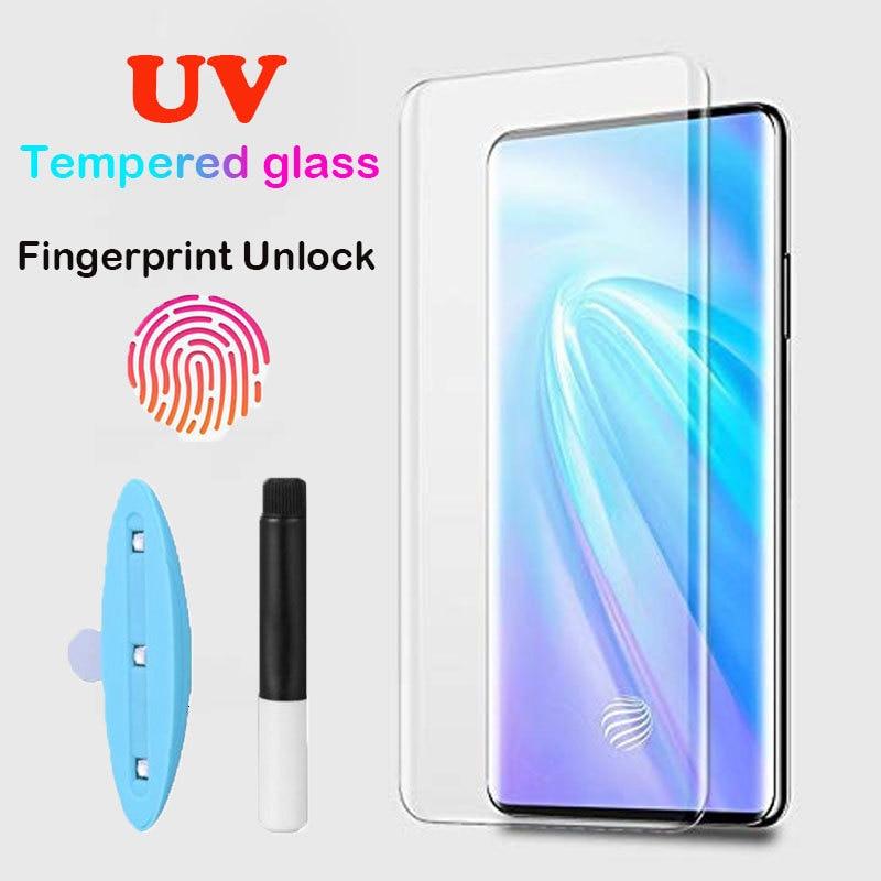 9D Nano Liquid UV Glue Tempered Glass Screen Protector For VIVO NEX 3 Full Coverage UV Glass 9H Protective Film For VIVO NEX 3
