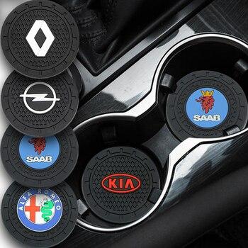 1pcs Car Cup Holder Coaster Non slip Pad Mat Interior Decoration For Jaguar XFR XF Sportbrake F-Type S-Type Svr S TYPE Goods