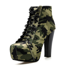 цена на Pumps Women Shoes New Top Quality Camouflage Upper Pumps Shoes Women High Heels Sexy Party Wedding Bride Shoes Woman