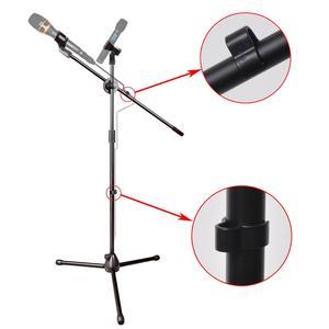 Image 2 - MS 017 Flessibile Microfono Fase Del Basamento Del Treppiedi Del Pavimento Del Basamento Del Microfono della Radio Microfono Stand