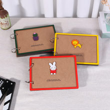 Creative children growth records lovers handmade gifts diy albums painting loose-leaf wooden albums photo albums Gifts