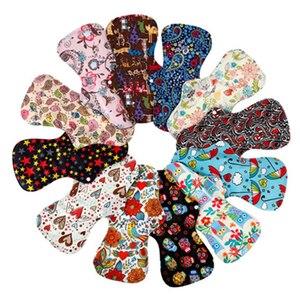 Image 2 - [simfamily] 10pcs organic Bamboo Charcoal washable Hygiene menstrual pads Heavy flow sanitary pads lady cloth pad reusable pads