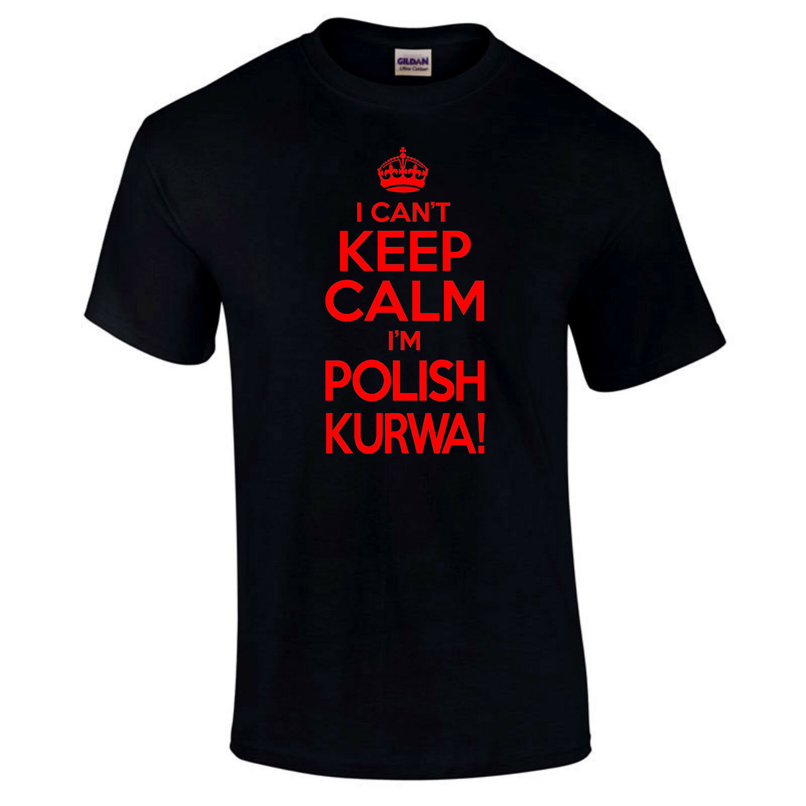 I Can't Keep Calm I'm Polish Kurwa Football Funny Sports Gift Unisex T- Shirt