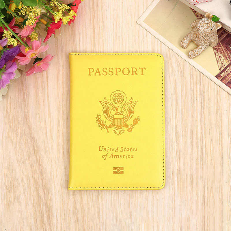 USA Travel Passport Cover Women Pink USA Passport Holder American Covers for Passports Girls Cases Passport Wallet Hot Sale
