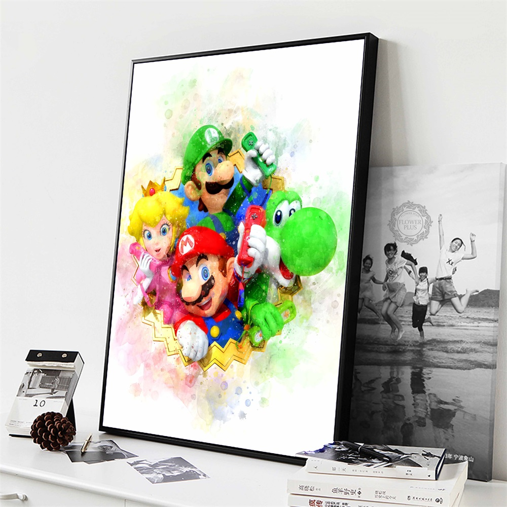 Anime Game Super Mario Bros Bowser Yoshi Wall Art Canvas Painting Posters And Prints Wall Pictures Baby Kids quadro cuadros(China)