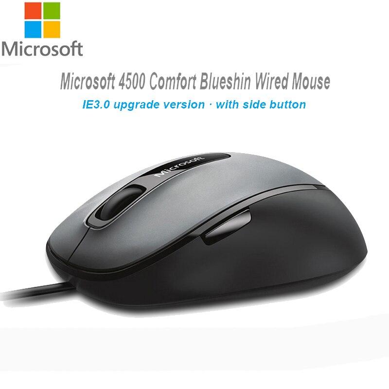 Galleria fotografica <font><b>Microsoft</b></font> 4500 Comfort Blueshin USB 2.0 del computer Mouse 1000DPI Genuino Tecnologia Bluetrack Ufficio Del computer Portatile Desktop Del Mouse Del PC