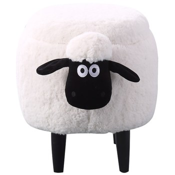 N Solid wood creative sheep storage stool makeup stool  living room change shoe bench dressing table stool storage sofa stool