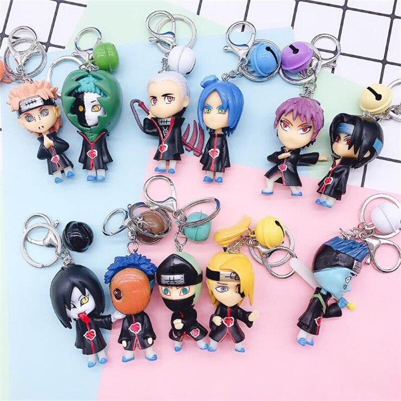 Hot New Japan Anime Naruto Akatsuki Key Chain Uchiha Itachi Pain Doll Cosplay Badge Key Ring Pendant Fancy Gift Sets