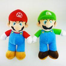 25cm süper Mario kardeş peluş oyuncaklar standı Mario & Luigi yumuşak dolgulu peluş oyuncaklar peluş oyuncaklar popüler Mario Pelucia bebekler çocuklar için hediyeler