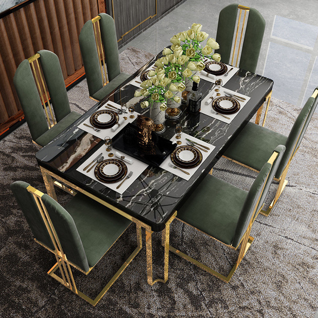 Black Marble Dining Table Dining Tables Aliexpress