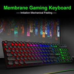 IMice Ak-800 RGB retroiluminado Teclado mecánico 104 cable USB impermeable juego de teclado para win2000/xp/vista/7/8/10 PC portátil
