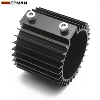 Epman universal de alumínio filtro de óleo jaqueta de resfriamento filtro de óleo dissipador de calor capa do radiador boleto alumínio kit id: 3