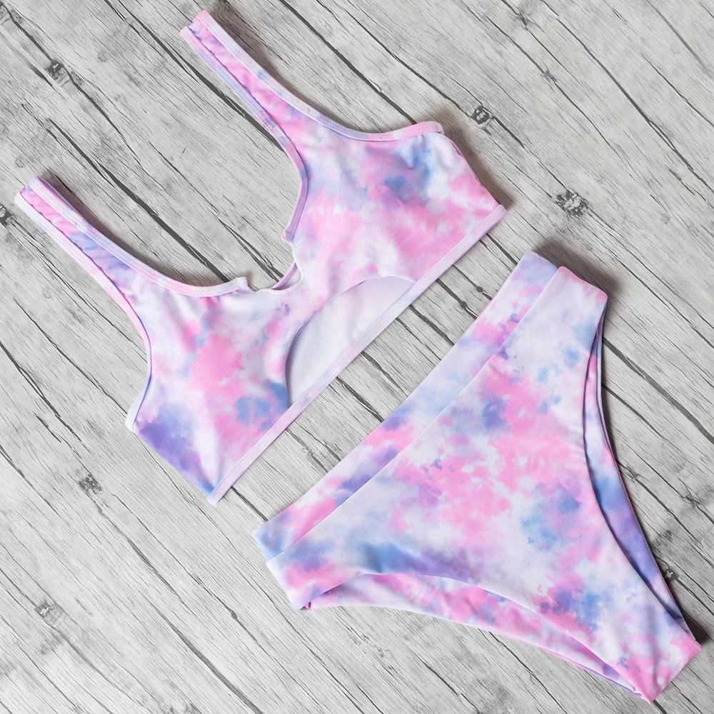Swimwear Women High Waist Bikini 2020 Bathing Suit Split Swimsuit Female maillot de bain femme biquinis feminino Bikinis Women 5