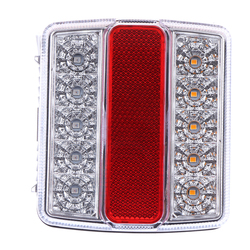 1pc Red + White LED Submersible Trailer Tail Lights Boat Marker Truck 16LED Trailer Taillights