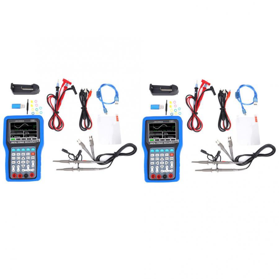 JDS3082A Handheld 500MSA/S 80MHz 2CH Digital Oscilloscope with 6000 Multimeter 100-240V digital oscilloscope Kit