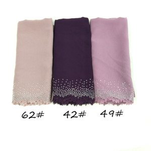 Image 4 - E4 20 ピース/ロット高品質レーザーカットシフォンヒジャーブショールスカーフ女性のスカーフ/スカーフ女性ラップショール選択することができ色
