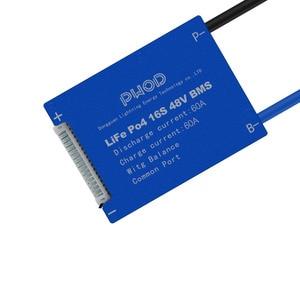 Image 3 - Умная плата системы управления аккумулятором LiFePo4 3,2 в 16S 48 в BMS с балансировкой для аккумуляторного блока скутера не 15S 48 В