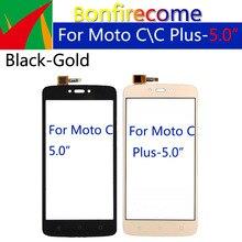 10Pcs\lot For Motorola Moto C XT1750 XT1754 XT1756 TouchScreen Panel Sensor For Moto C Plus  XT1721 XT1723 Digitizer Replacement