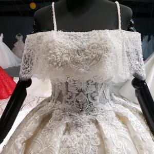 Image 4 - HTL916 koronkowe suknie ślubne z welon ślubny specjalna łódź z dekoltem, bez ramienia suknie ślubne balowe nowy vestido de noiva plus rozmiar