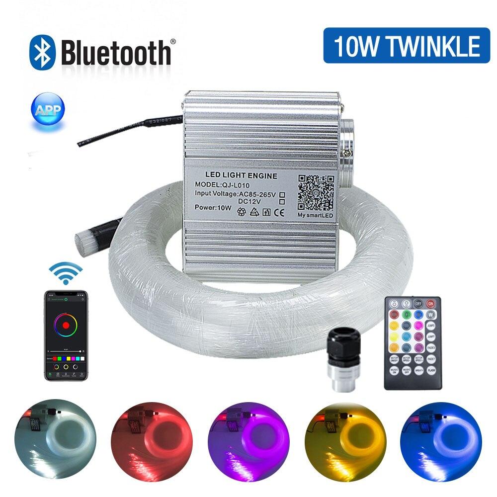 10 w twinkle luzes de teto da estrela da fibra óptica kit bluetooth app controle inteligente para estrela do carro estrelado conduziu a luz teto da sala do miúdo