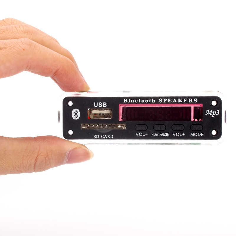 5V-12V Auto raccordi mp3 player Bluetooth scheda di decodifica MP3 MP3 lettore di schede MP3 Bluetooth modulo audio accessori con radio FM